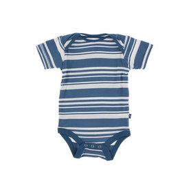 KicKee Pants KicKee Pants Short Sleeve Onesie - Fishing Stripe