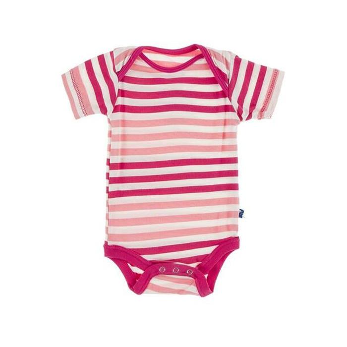 KicKee Pants KicKee Pants Short Sleeve Onesie - Forest Fruit Stripe