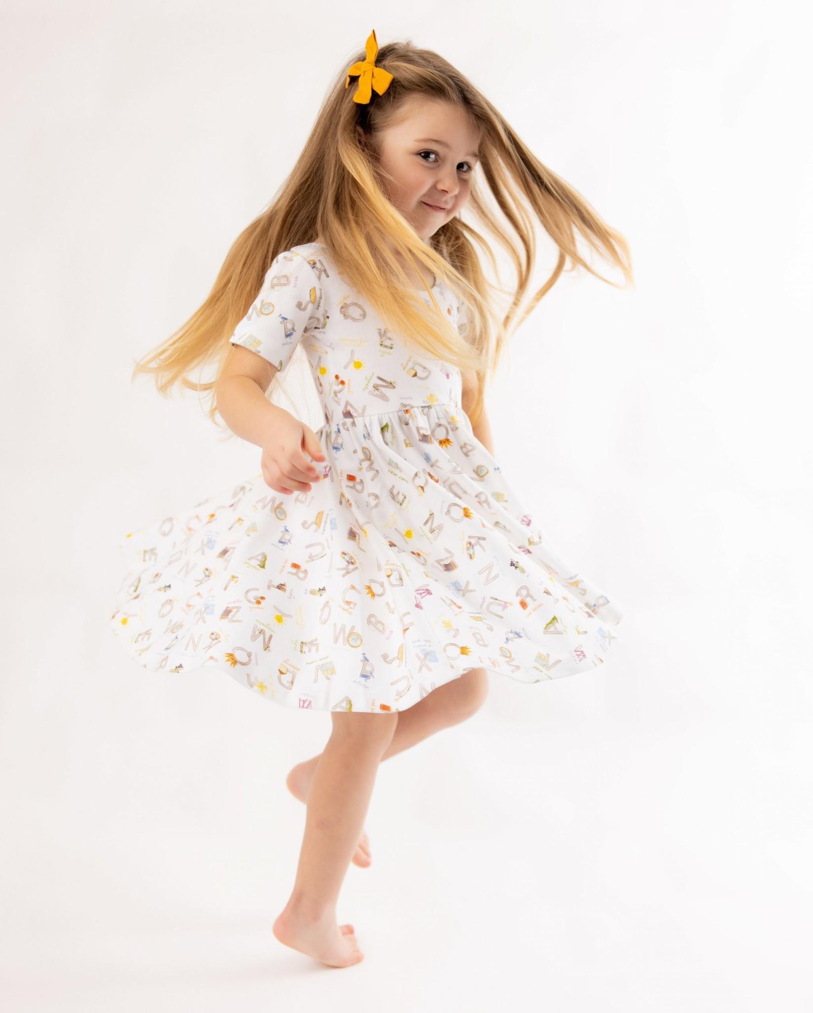 Nola Tawk Louisiana ABC's Organic Cotton Twirl Dress