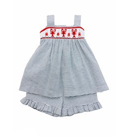 Lulu Bebe Crawfish Smock Sleeveless Dress & Short Set
