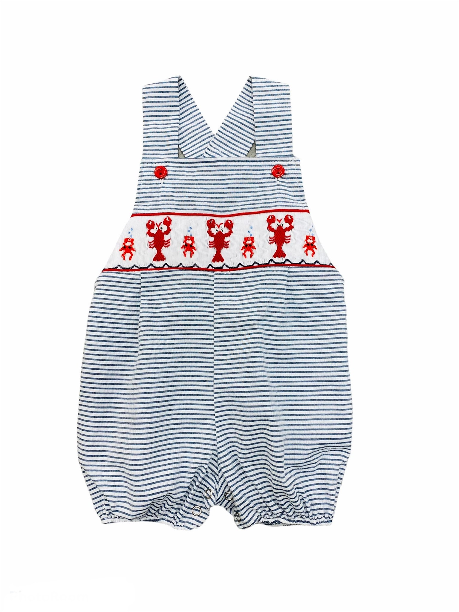 Lulu Bebe Crawfish Sleeveless Smock Bubble