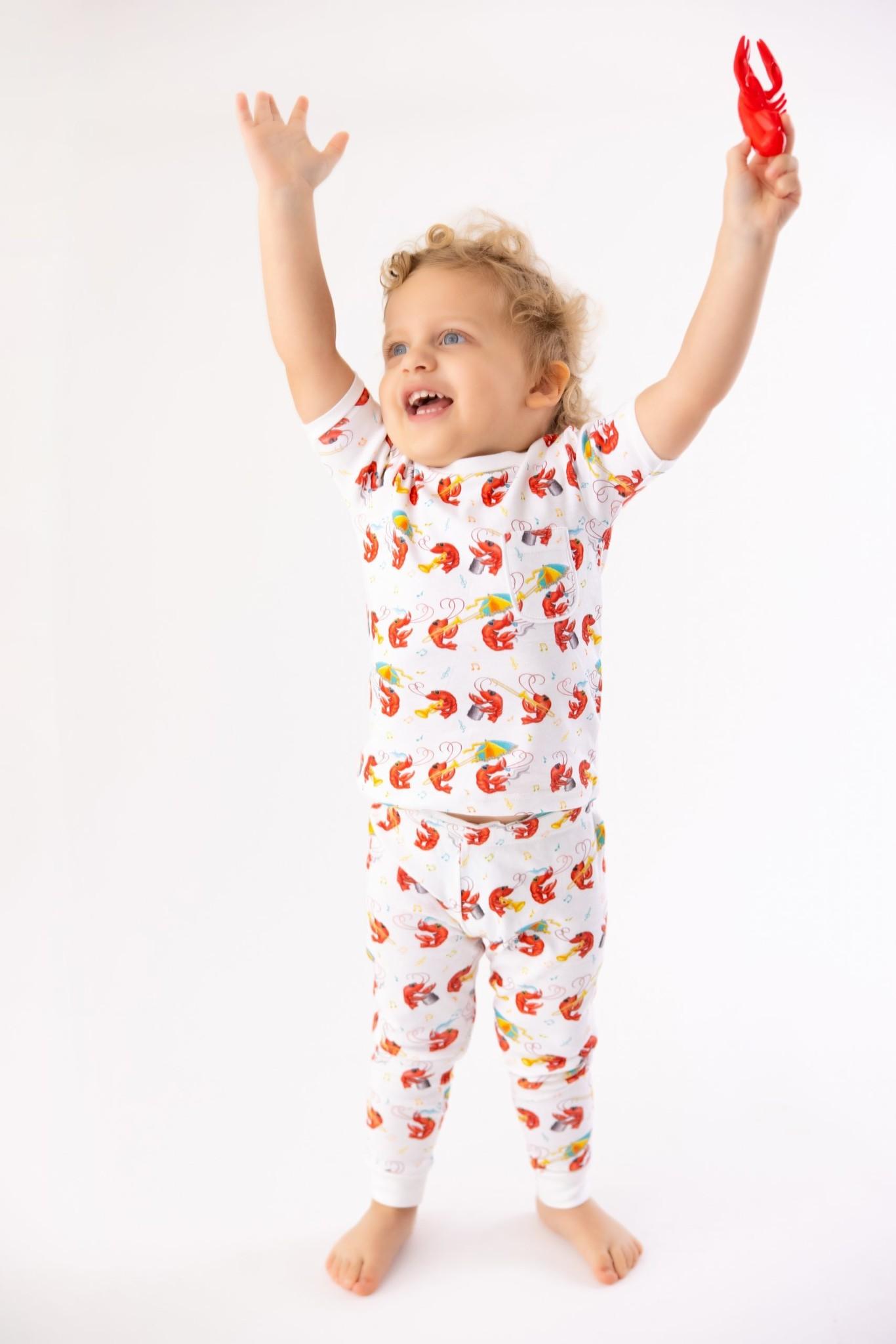 Nola Tawk Crawfish Second Line Organic Cotton Pajamas