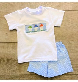 Lulu Bebe Snowball Short Set - Blue