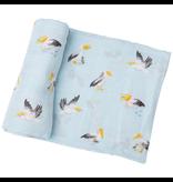 Angel Dear Pelicans Swaddle Blanket