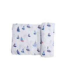 Angel Dear Nautical Boats Swaddle Blanket