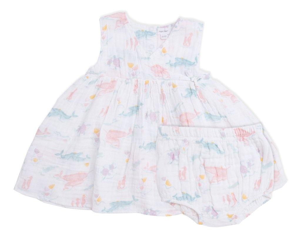 Angel Dear Pretty Ocean Kimono Dress & Diaper Cover Pink -