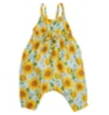 Angel Dear Sunflower Tie Back Romper Whispering Blue -