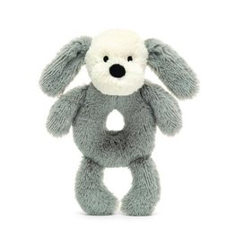Jellycat Jellycat Smudge Puppy Soft Ring Rattle
