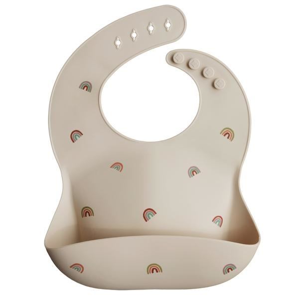 Mushie Mushie Silicone Adjustable Bucket Baby Bib