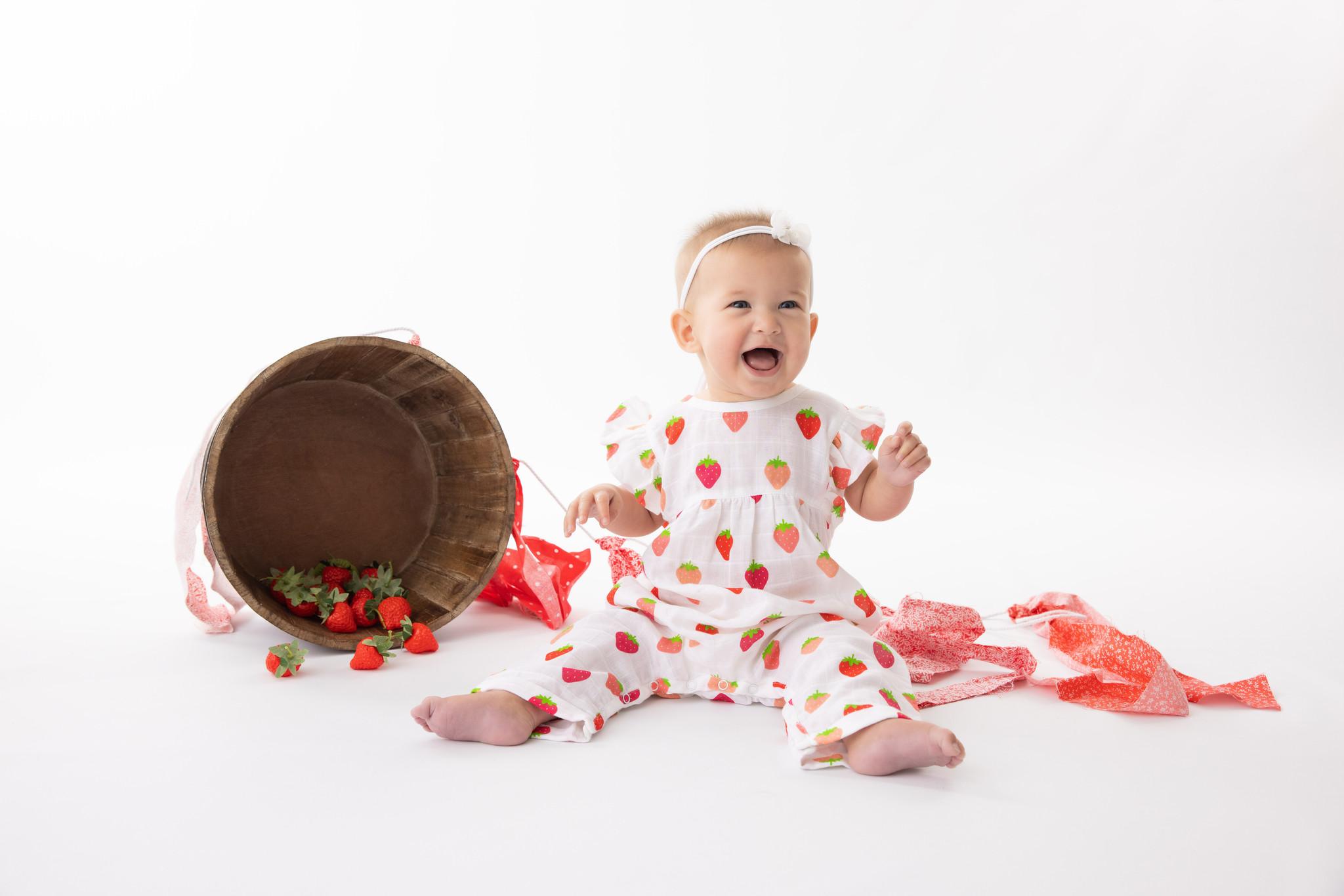 Nola Tawk Organic Muslin Ruffle Romper - Berry Nice