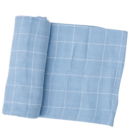 Angel Dear Off The Grid Swaddle Blanket - Blue