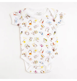 Nola Tawk Louisiana ABC's Organic Cotton Onesie