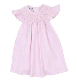 Magnolia Baby Mandy and Mason's Classics Pink Bishop Flutters Dress Set