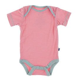 KicKee Pants KicKee Pants Short Sleeve Onesie - Strawberry with Jade 0-3M