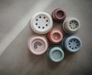 Mushie Stacking Cups Toy by Mushie (Made in Denmark)