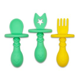 The Teething Egg Eggware Utensils  Infant & Toddler Feeding Set