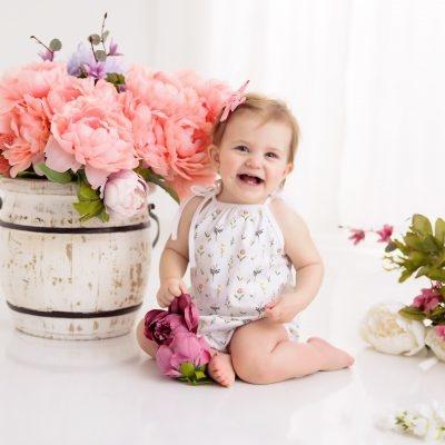Nola Tawk Spring & Bloom Organic Cotton Shoulder Tie Onesie