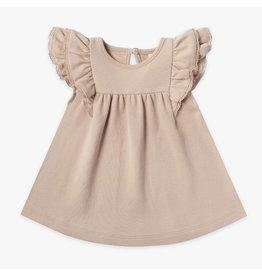 Quincy Mae Quincy Mae Organic Cotton Flutter Dress - Petal