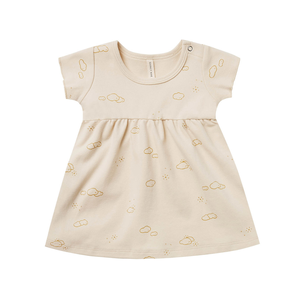 Quincy Mae Quincy Mae Organic Cotton Dress - Natural