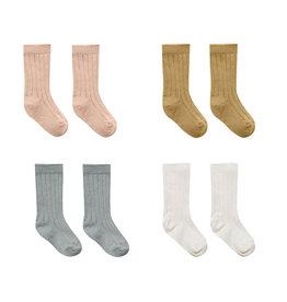 Quincy Mae Quincy Mae  4-Pack Socks - Ivory/Ocean/Petal/Gold