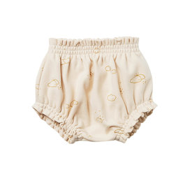 Quincy Mae Quincy Mae Organic Cotton Gathered Bloomer - Natural