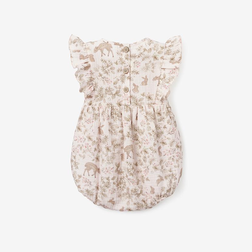 Elegant Baby Woodland Bunny Organic Muslin Bubble