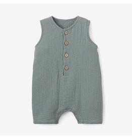 Elegant Baby Green Organic Muslin Shortall (9-12 mo)