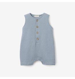 Elegant Baby Blue Organic Muslin Shortall