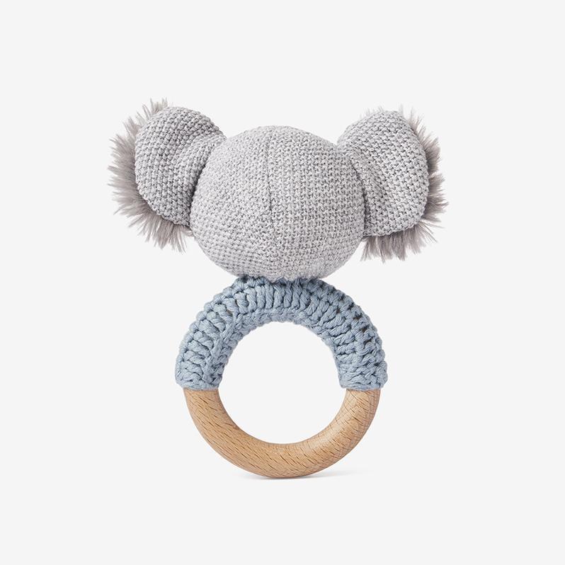 Elegant Baby Koala Wooden Baby Rattle