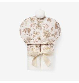 Elegant Baby Woodland Bunny Organic Hooded Baby Bath Wrap