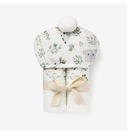 Elegant Baby Organic Hooded Baby Bath Wrap - Koala
