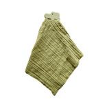 Tikiri Alligator Comforter in Olive Green Muslin w/ Natural Rubber Teether