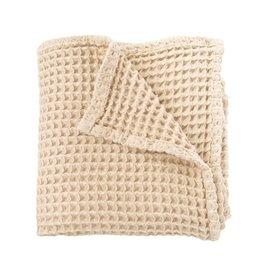 Sugar + Maple Sugar + Maple Honeycomb Knit Baby Blanket