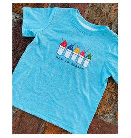 Two Sprouts Snoball Caribbean Blue Melange Children's T-shirt