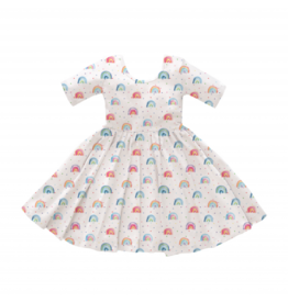 Nola Tawk Over the Rainbow Organic Cotton Twirl Dress