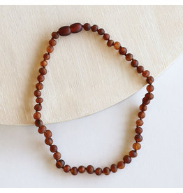 "Canyon Leaf Baltic Amber 11"" Necklace (Raw) - Cognac"