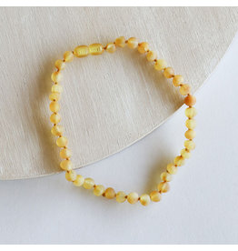 """Canyon Leaf Baltic Amber 11"""" Necklace (Raw) - Honey"""