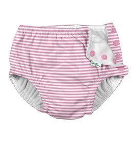 Snap Reusable Absorbent Swim Diaper - Light Pink Pinstripe
