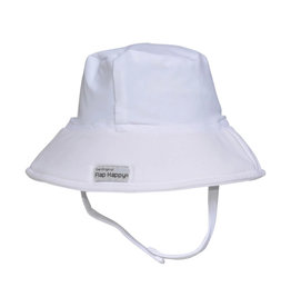 Flap Happy UPF 50+ Fun in the Sun Swim Hat  White