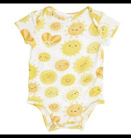 Angel Dear Yellow Sunshine Bamboo Bodysuit
