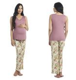 Everly Grey Everly Grey Analise 5-Piece Mom & Newborn Baby PJ Set - Beige Floral