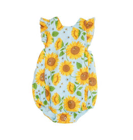 Angel Dear Sunflowers Muslin Sunsuit - Whispering Blue 6-12M