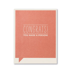 Compendium Greeting Card - Congrats, You Made a Baby!