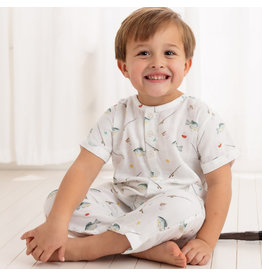Nola Tawk Catch you Later Organic Muslin Romper with Pockets