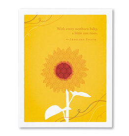Compendium Greeting Card - With Every Newborn Baby