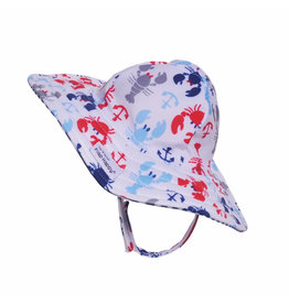 Flap Happy Crabby Crawfish UPF 50+ Summer Splash Swim Hat
