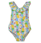 Flap Happy Pineapple Passion UPF 50+ Mindy Crossback Toddler Swimsuit