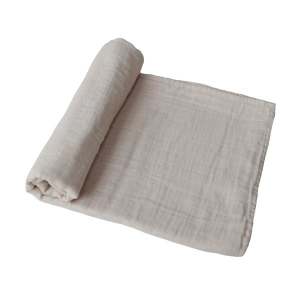 Mushie Muslin Swaddle Blanket Organic Cotton (Solid) -