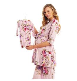 Everly Grey Everly Grey Analise 5-Piece Mom & Newborn Baby PJ Set - Dusty Rose