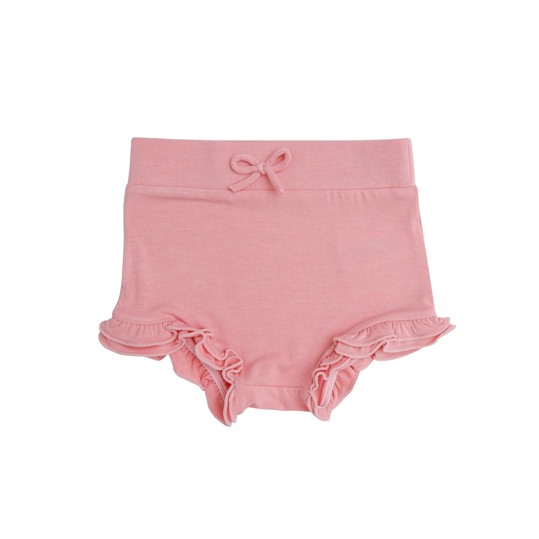 Angel Dear Modern Basics Bamboo High Waist Shorts - Blossom
